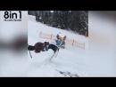 Лыжный фристайл - первый в мире парный флип в позе 69 / The first 69-Flip skiing