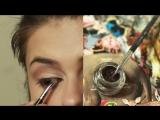 Cat eye makeup Анджелины Джоли