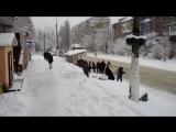 Снежная битва. Вышгород
